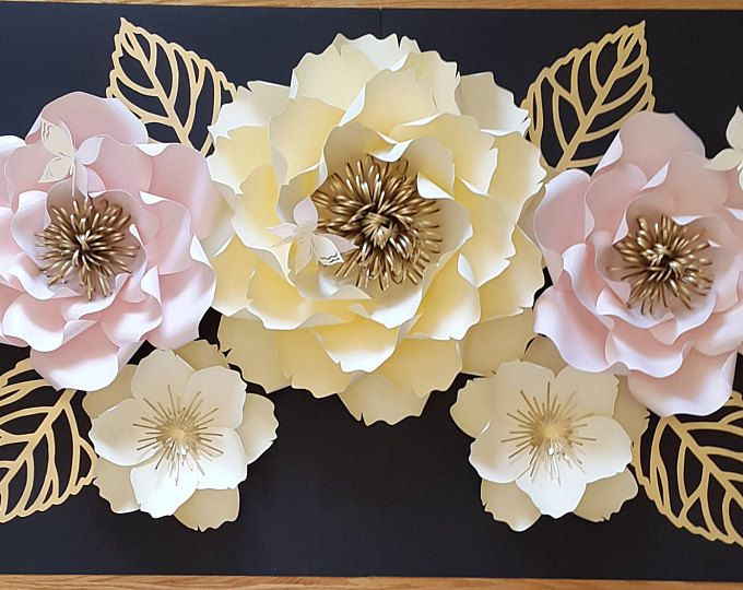 Paper Flower Wall Decor, large paper flower wall backdrop, giant ...