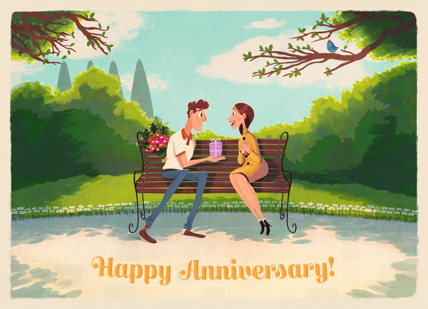 Happy Anniversary Greeting Card Anniversary Greeting Cards