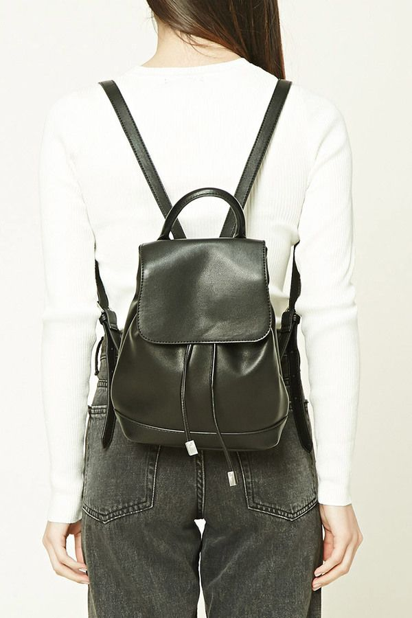 4c6ec5780e FOREVER 21+ Faux Leather Flap-Top Backpack