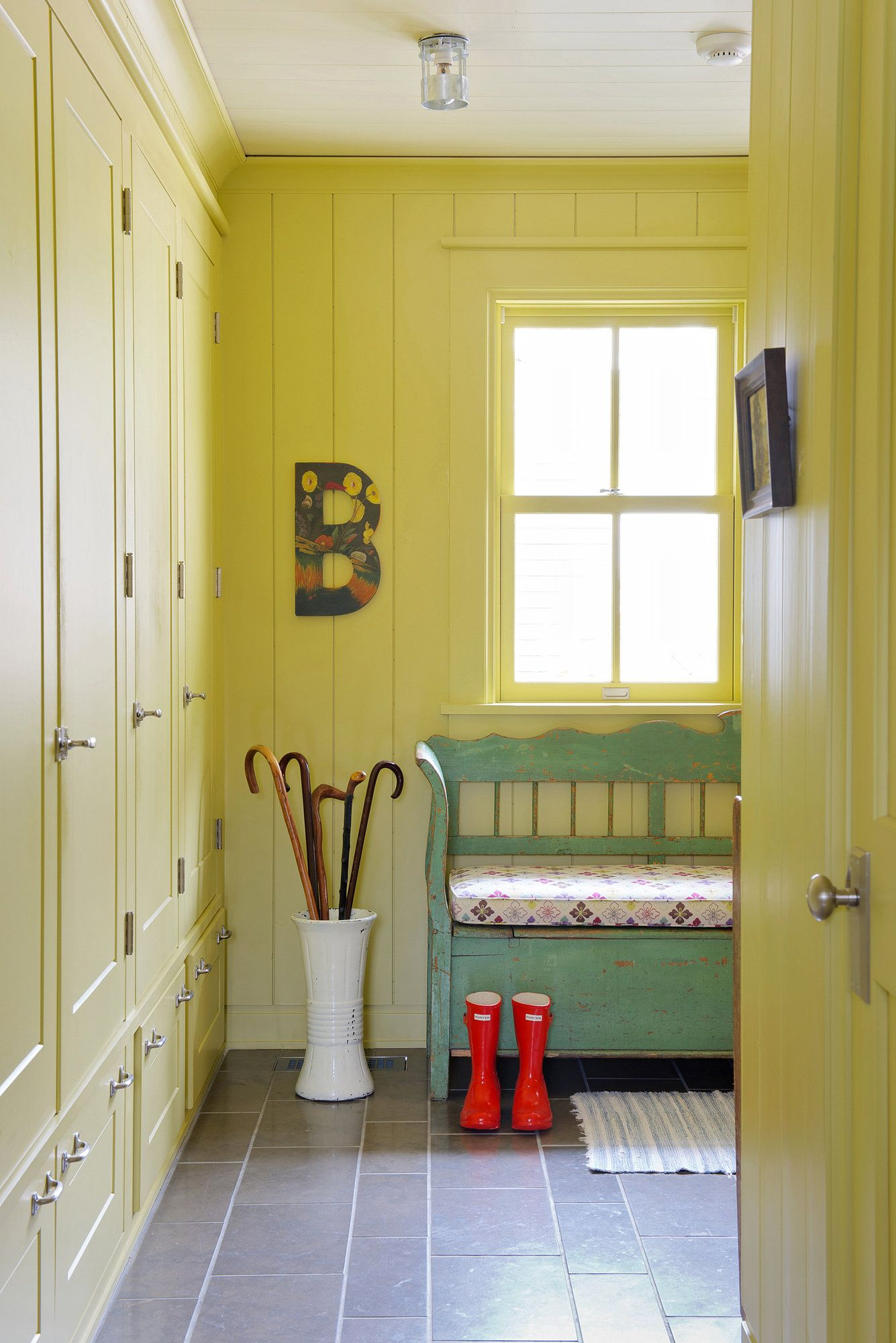 The Innkeepers Farm House Living Room Mudroom Design
