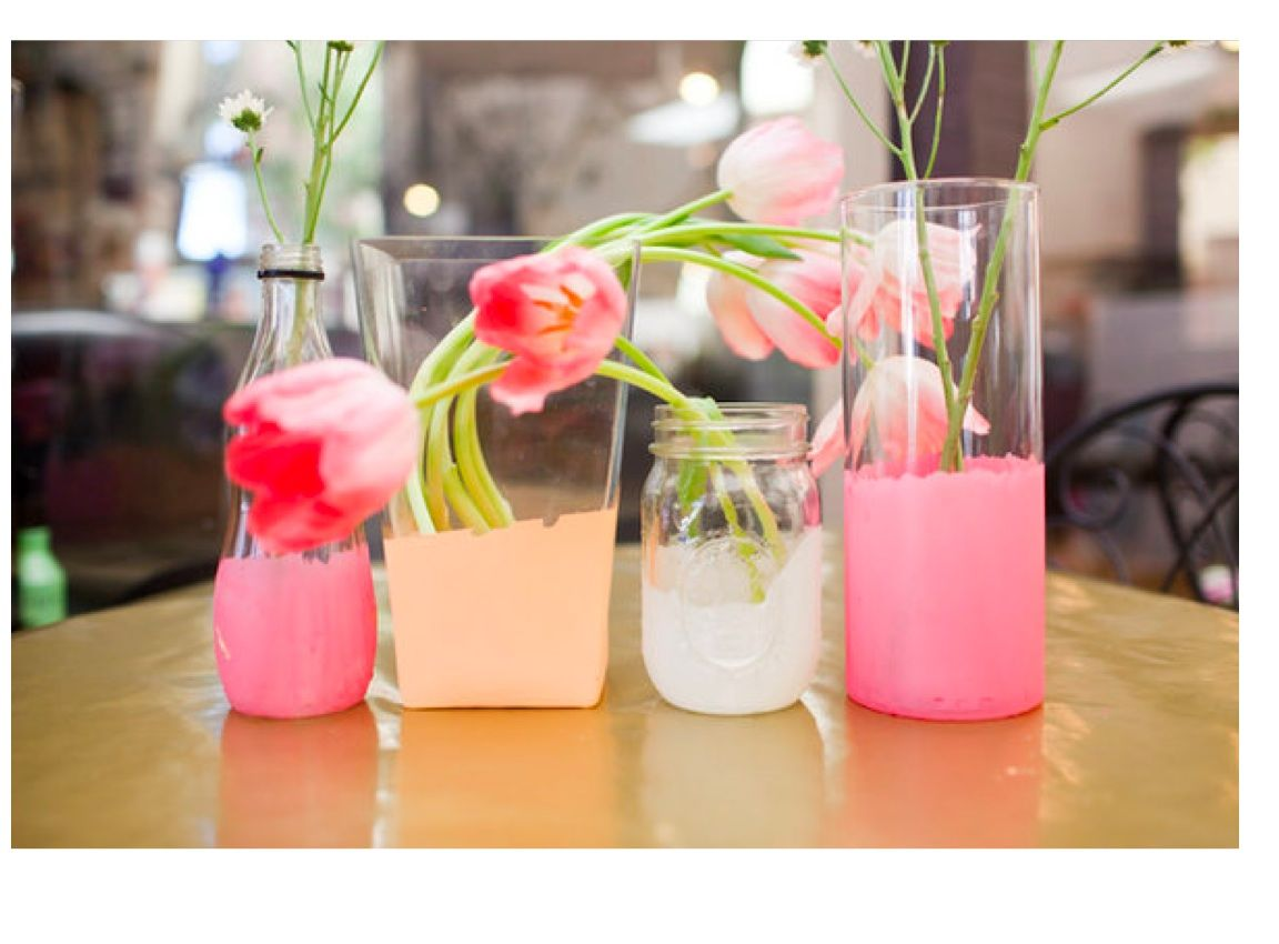 I like the way these diy vases look with the paint on the bottom i like the way these diy vases look with the paint on the bottom very cool solutioingenieria Choice Image