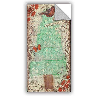 """ArtWall Cassandra Cushman Christmas Blessings II Wall Mural Size: 36"""" H x 18"""" W x 0.1"""" D"""