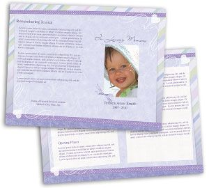 Awesome Child Funeral Program Design