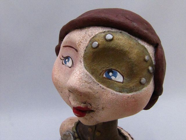 steampunk art doll-permilia detail by amber leilani middleton, via Flickr