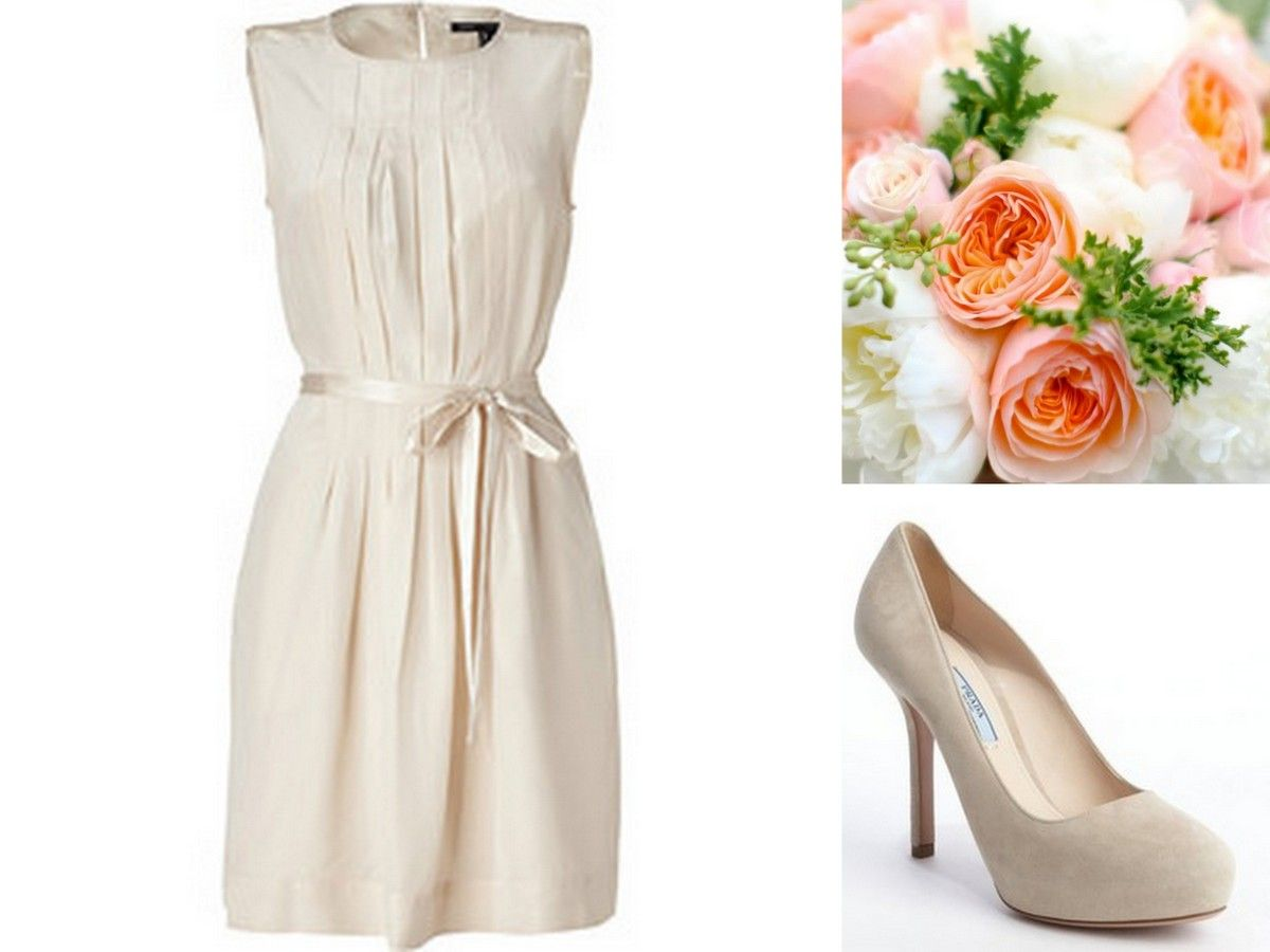 Marc jacobs ivory neutral bridesmaid dress inspiration prada bridesmaid ombrellifo Images
