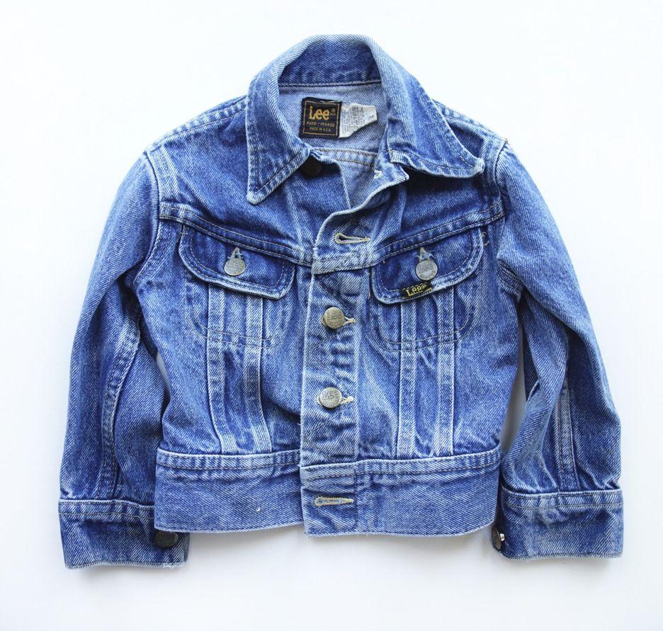 Super Cool Vintage Lee Jean Jacket Toddler Size 2 Lee Jeans Jackets Vintage Denim Jacket [ 891 x 936 Pixel ]