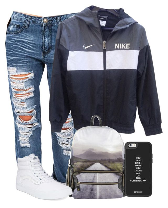 """""""✌✌✌"""" by gxldenqueen ❤ liked on Polyvore featuring NIKE, MOJO and Vans"""