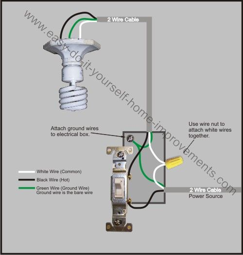 Light Switch Wiring Diagram Home Improvement Light