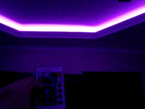 Rgb Led Light Strip Instaled On The Ceiling From My Living Room