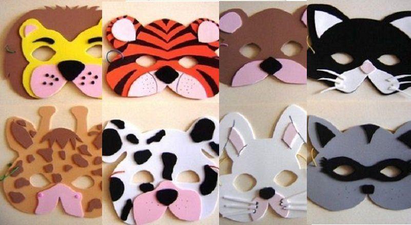 Bricoler des masques d 39 animaux 8 patrons imprimer animaux ok pinterest bricolage - Masque de carnaval a imprimer ...