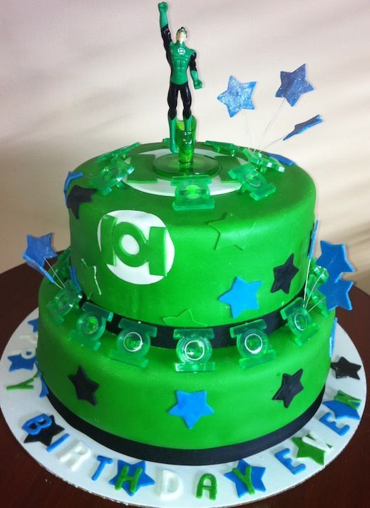 Green Lantern Cake By Roscoe Bakery Kids Parties In 2019