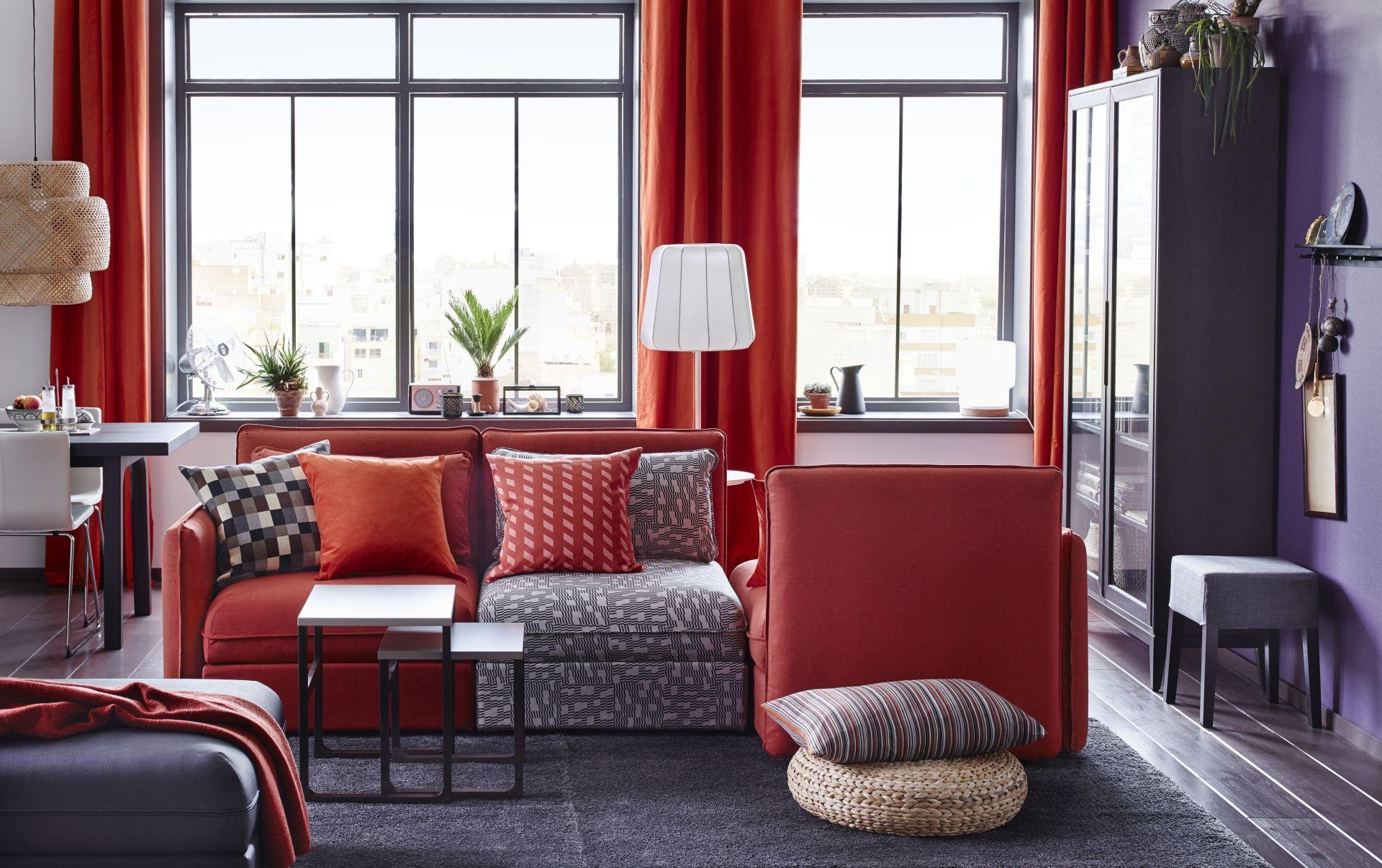 Combina Tu Sal N Lleno De Luz Natural Con Muebles Rojos  # El Foco Muebles Caballito