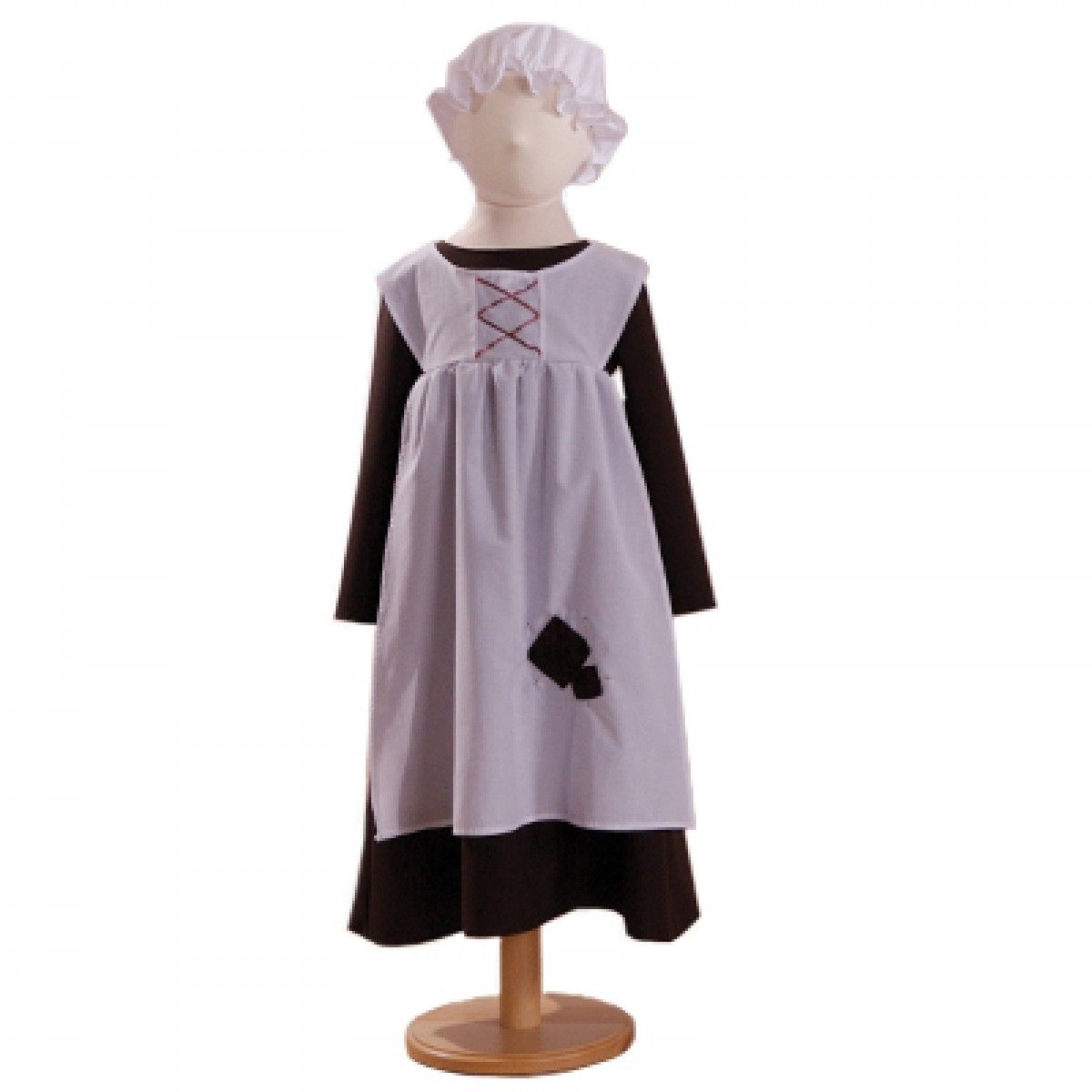 White apron fancy dress - Victorian Urchin Girl This Victorian Girls Costume Comes With A Brown Smock Style Dress White Apron And Mop Cap Great Costume For Dickensian Events
