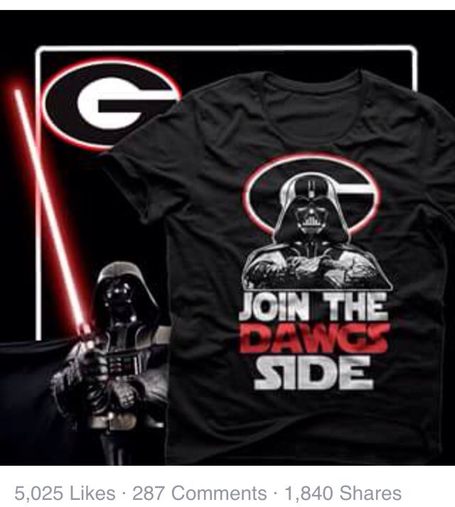 becf5f77 Nothing better than Star Wars and Georgia Bulldogs!!!!!!   All ...