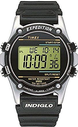 Timex Expedition Men s T77511 Watch with LCD Dial Digital Display and Black  Resin Strap 0fff0bcd0d