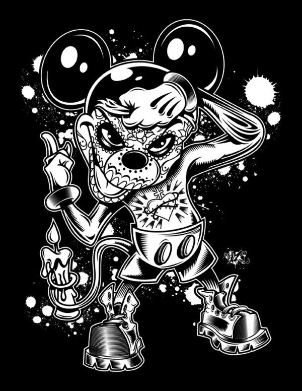Mickey Day Of The Dead By Cazitena Deviantart Com On