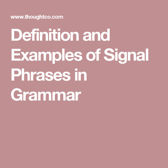 signal words definition example