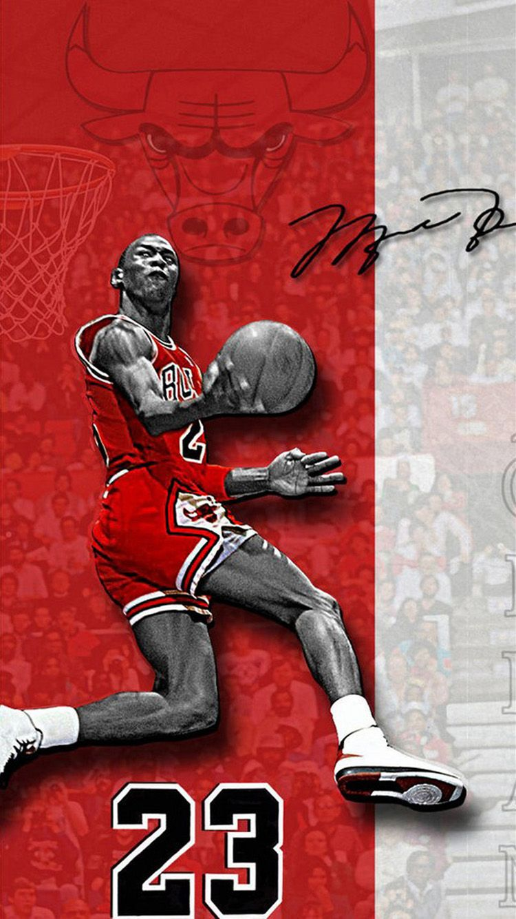 Michael Jordan iPhone 6 Wallpaper in 2020 Michael jordan
