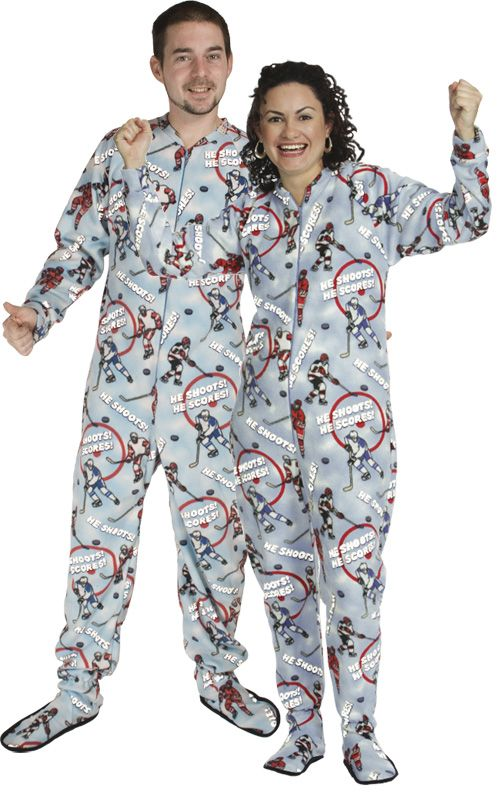Hockey GLOW Adult Footed Pajama. Need I say more  snugasabug.com ... 0dd40308c