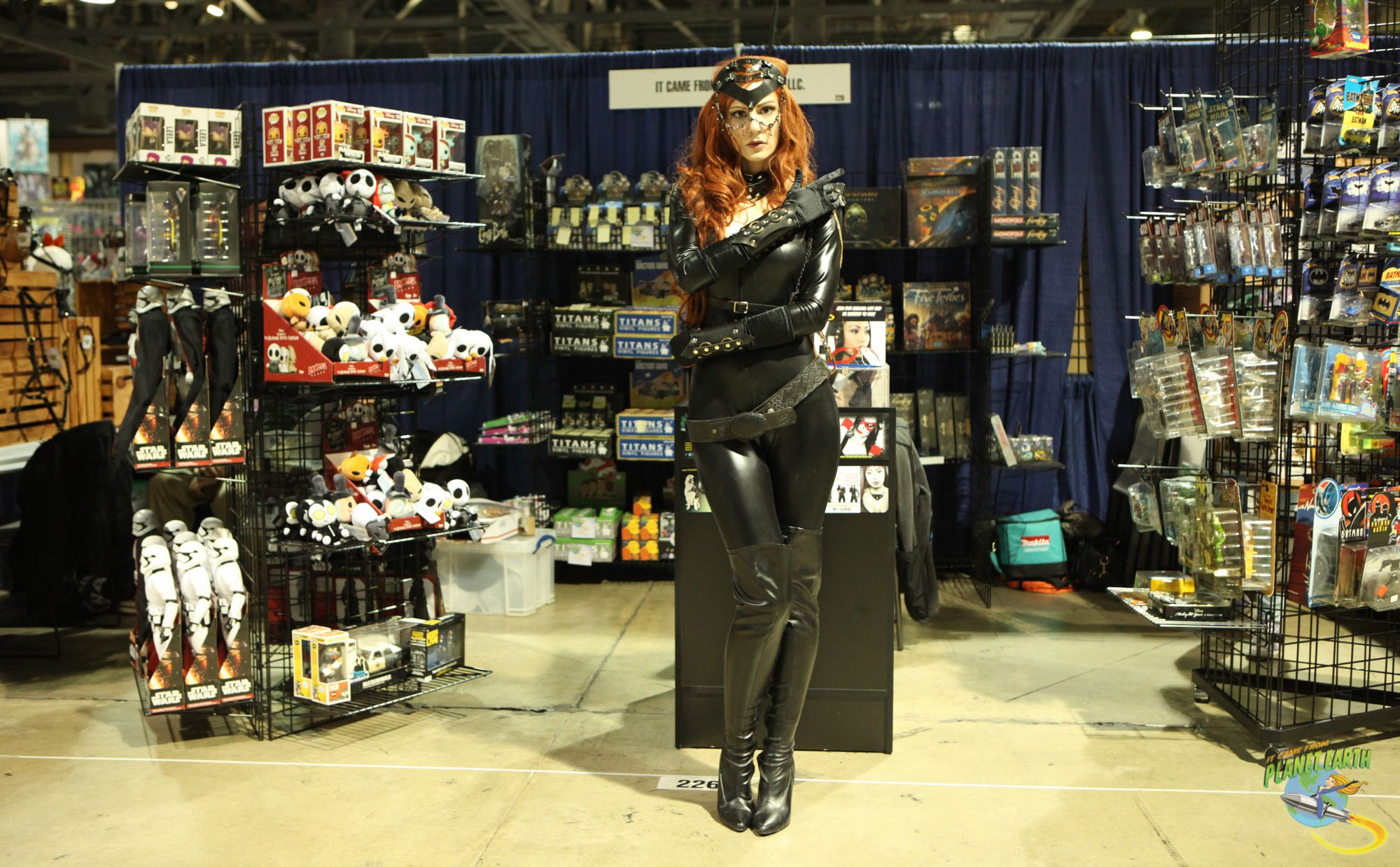 Our model Kat Sheridan at our booth at Long Beach Comic Expo.