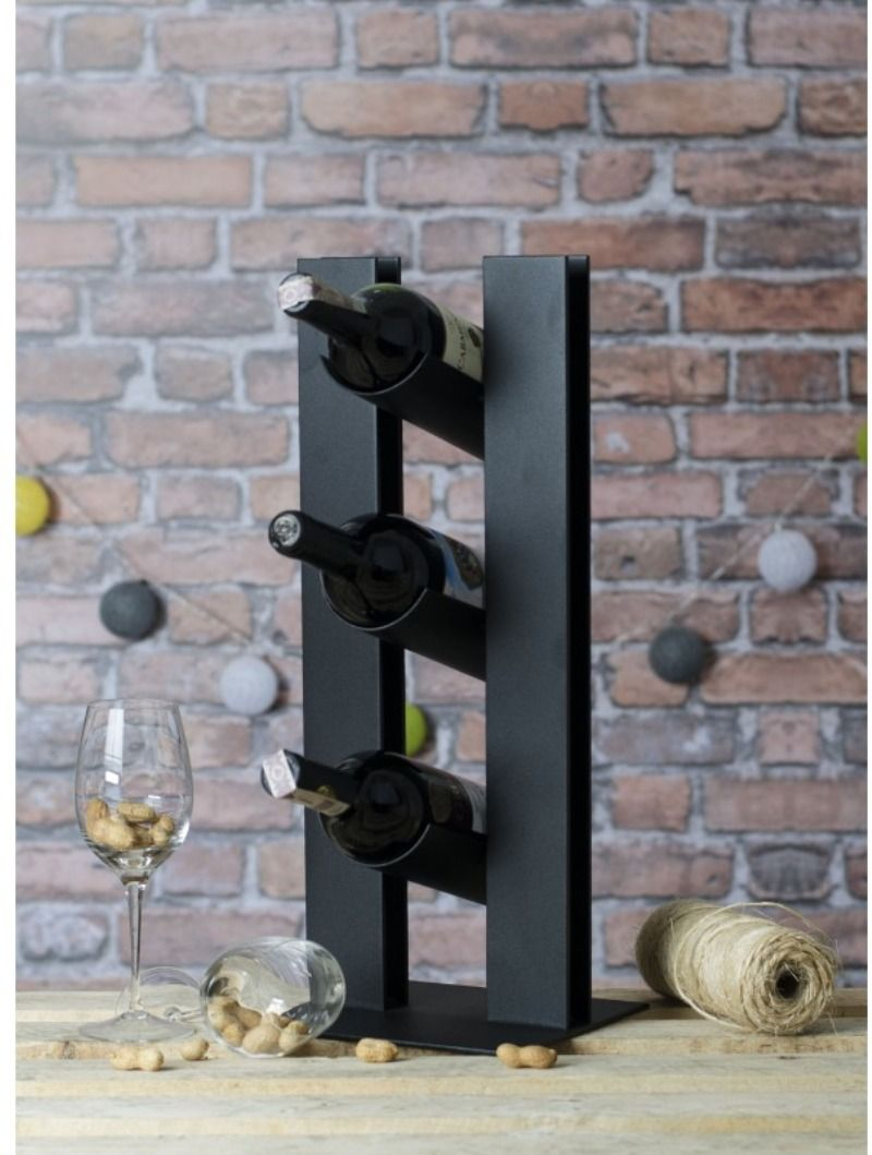Metalowy Stojak Na Wino Wine Rack Wine Decor