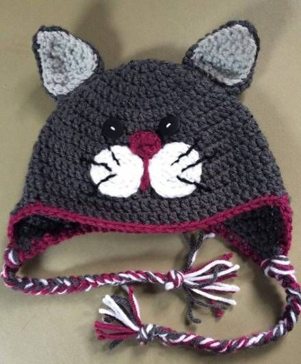 Crochet hat cat winter 27 Ideas for 2019 #hat #crochet ...