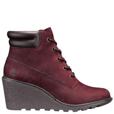 4599b44ae7e Timberland Women s Amston 6-Inch Boots (Dark Red Nubuck)