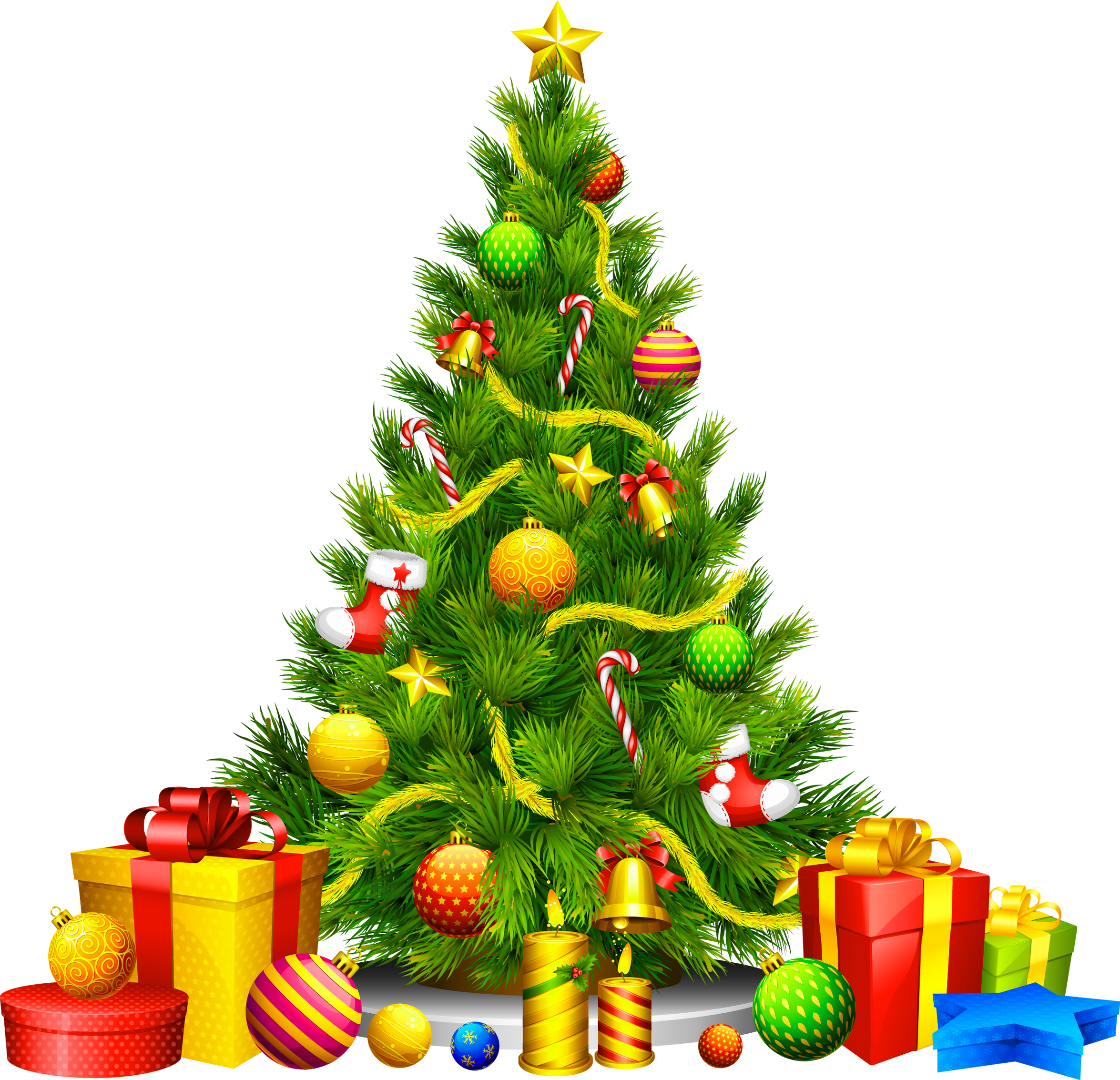 When Is It Appropriate To Start Listening To Christmas Music Christmas Tree Clipart Christmas Tree With Presents Christmas Tree Images