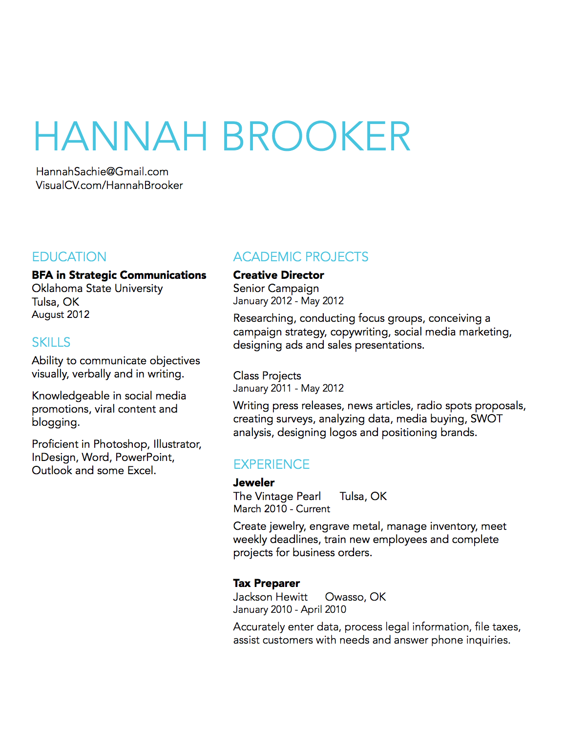 Simple Resume Design Idea  R E S U M E    Simple