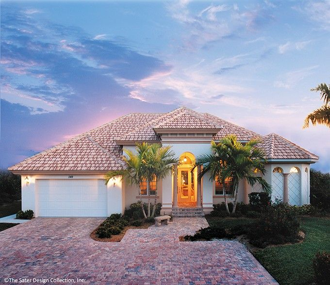 Mediterranean Style House Plan 3 Beds 2 Baths 2331 Sq Ft Plan 930 318 Mediterranean Style House Plans Mediterranean House Plans House Plans Farmhouse