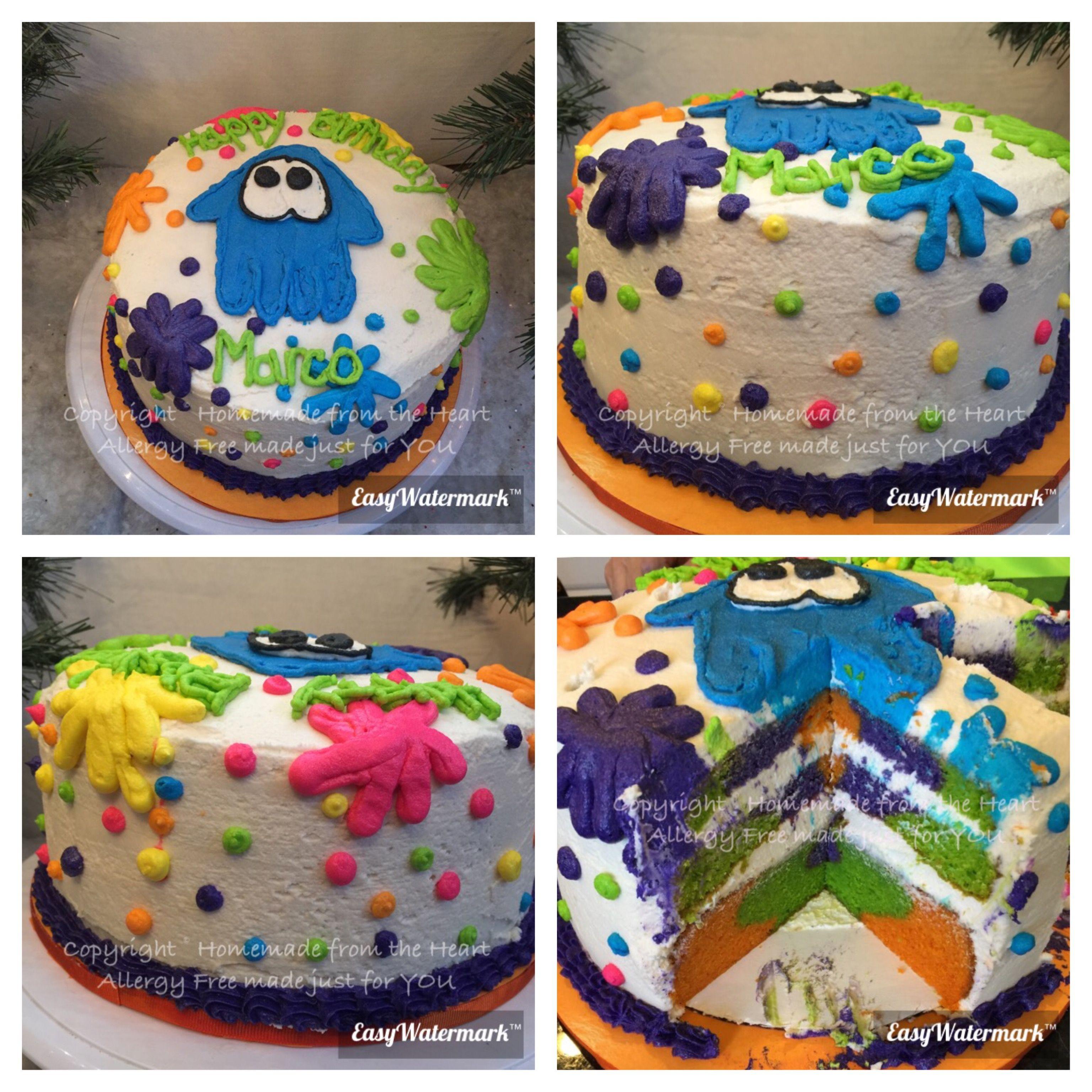 Gluten And Nut Free Splatoon Cake Copyright Homemade From