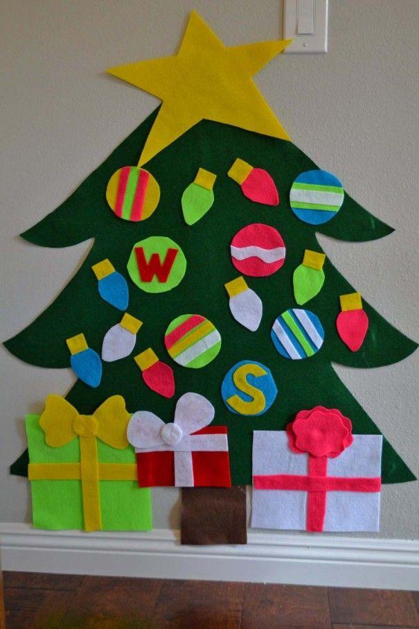 DIY Felt Christmas Tree for kids   Merry Christmas   Christmas, Felt ...