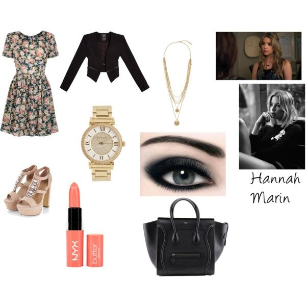Hannah Marin by shamelessly-chic-13 on Polyvore featuring mode, GUESS, Michael Kors, Vince Camuto, NYX and PrettyLittleLiars