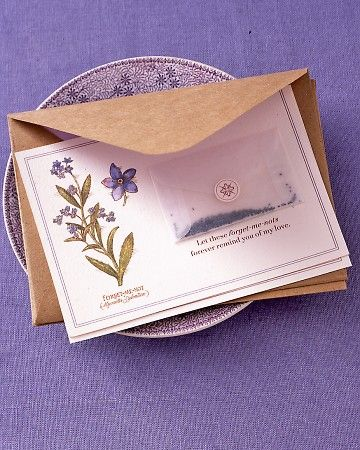 Valentine Cards that actually contain seeds...cool!