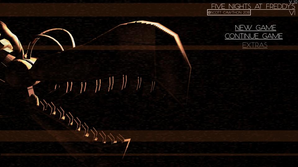 Probably fan-made FNAF 6 menu screen | Five Nights at Freddy's