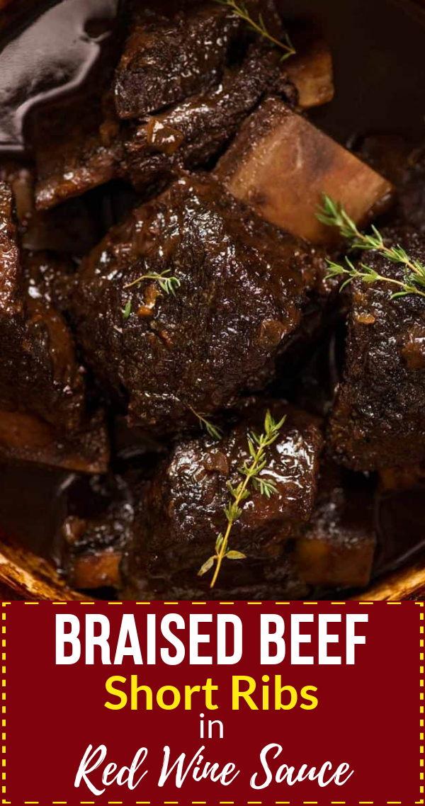 Braised Beef Short Ribs In Red Wine Sauce Recipe Beef Short Rib Recipes Oven Beef Short Rib Recipes Short Rib Recipes Oven