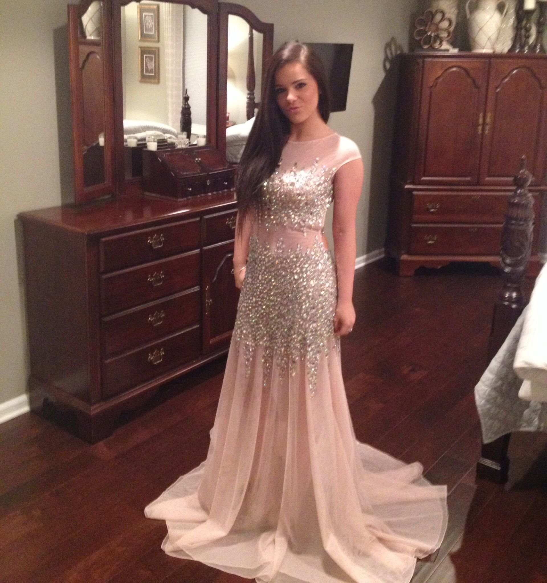 prom dress nude color jovani   Prom/ Homecoming ...