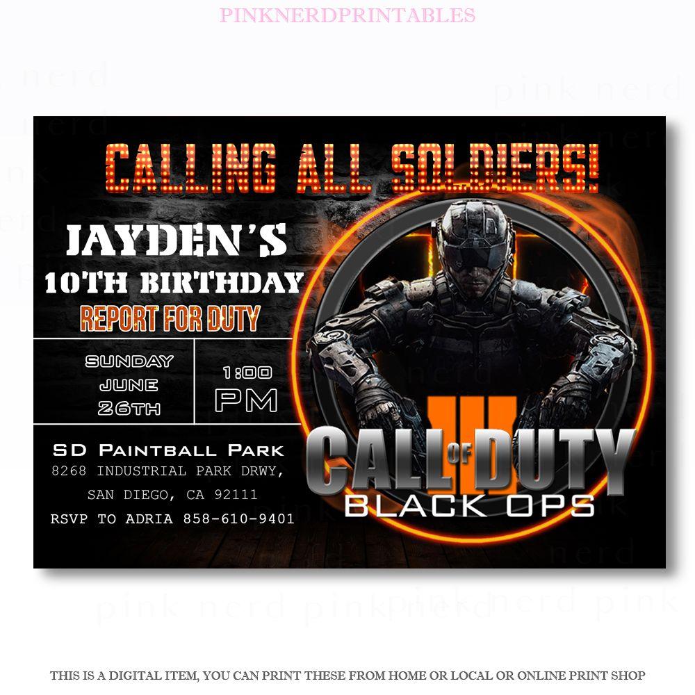 Call of duty invitation call of duty birthday invitation call of call of duty birthday invitation call of duty filmwisefo