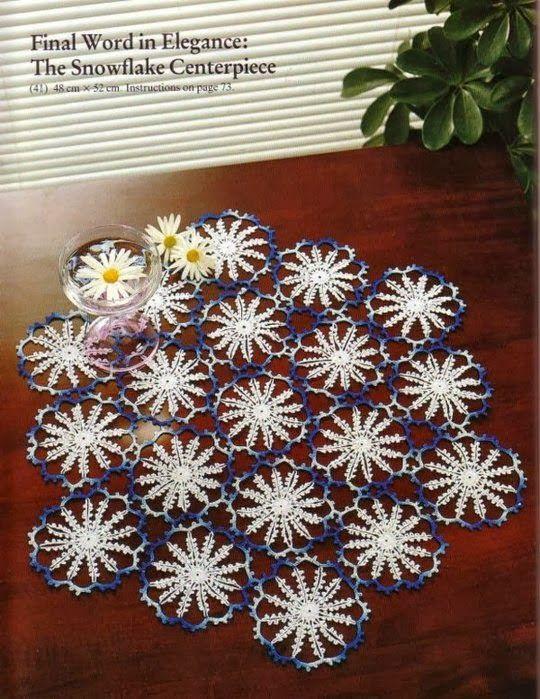 Patrones Crochet: Tapete Crochet Copo de Nieve Patron | Crochet ...