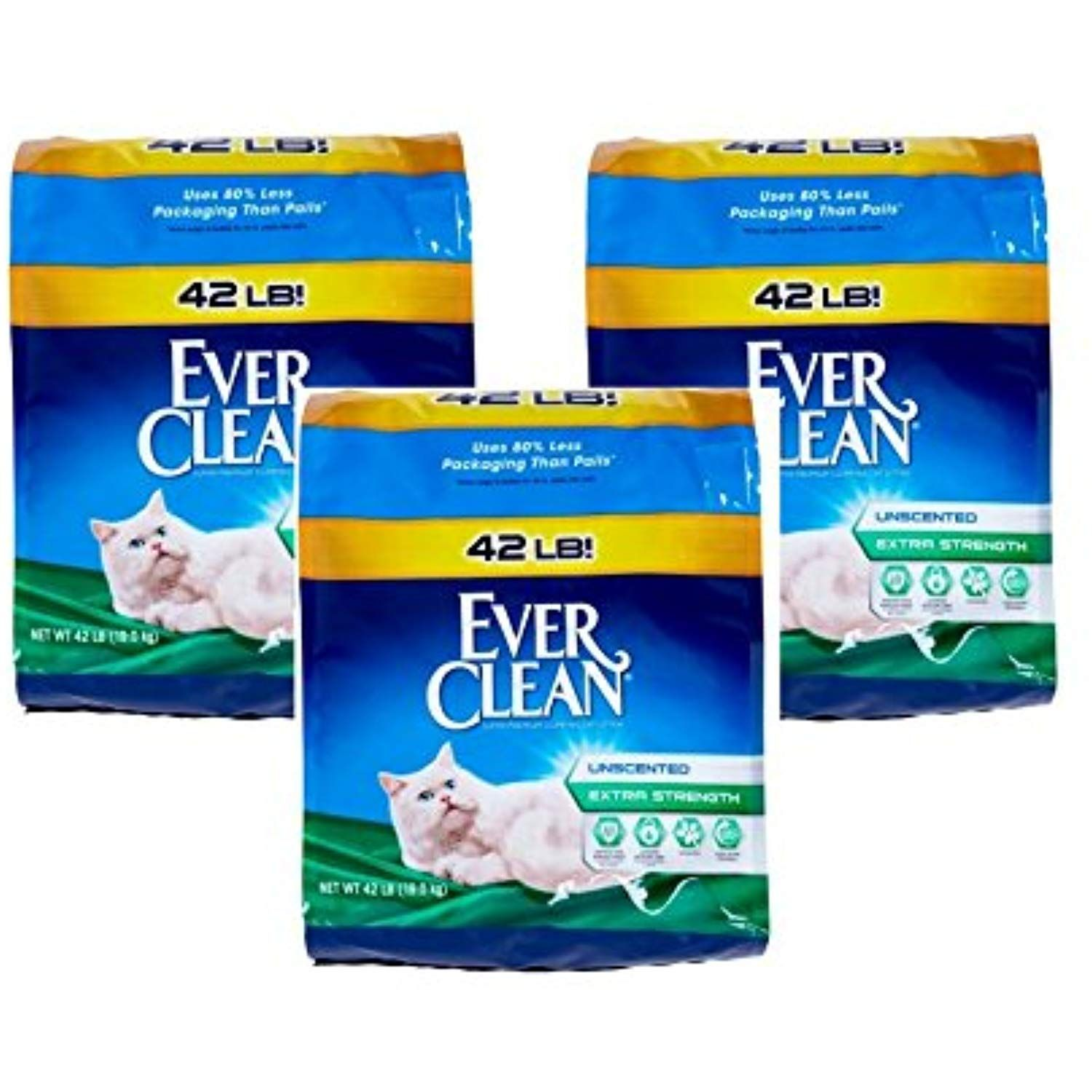 Ever Clean Extra Strength Cat Litter, Unscented (42 Pounds