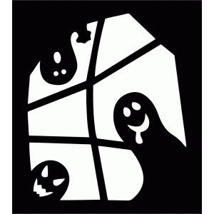 Image result for halloween window silhouettes ghost | Trick or ...