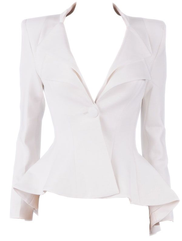 Clothing :: Jackets :: 'Lucy' White Tailored Blazer - Celeb ...