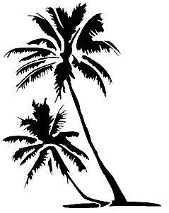 Palm Tree Stencil Tree Stencil Art Logo Art