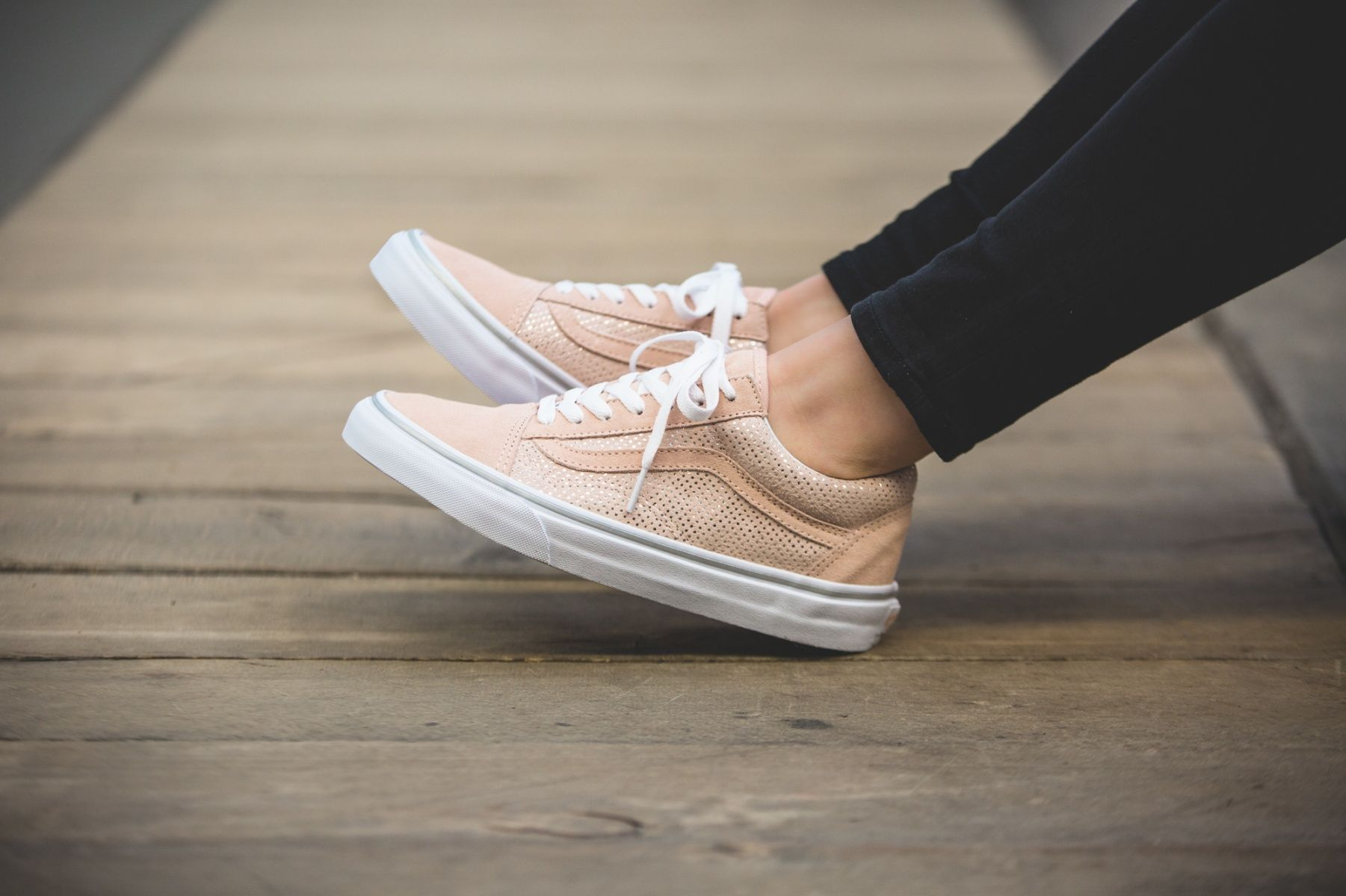 vans old skool metallic dots