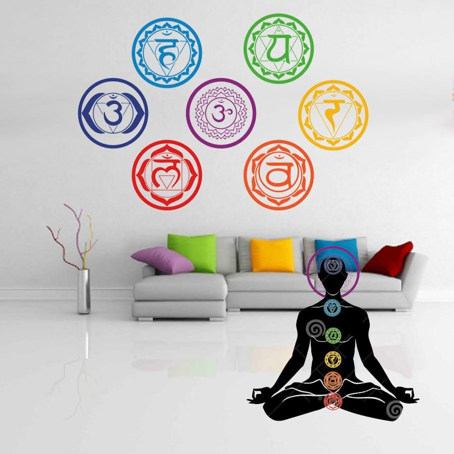 Wall Stickers Yoga Meditation Symbol Wall Decals Home Decor Wall Decoration