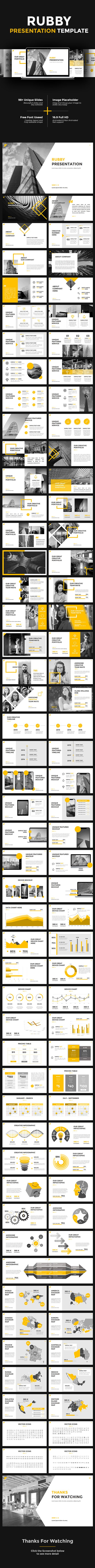 Rubby Google Slides | Presentation templates, Template and Keynote