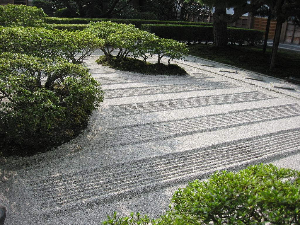 the zen garden at ginkakuji, kyoto, japan | zen garden design