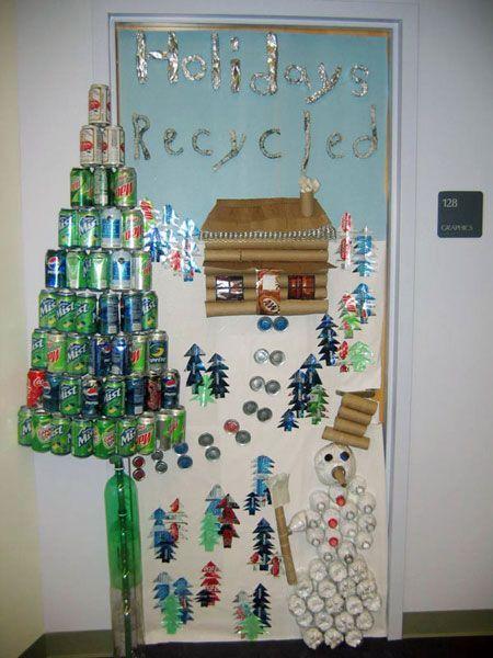 Holidays Recycled Christmas Classroom Door Decoration Christmas Classroom Door Christmas Classroom Door Decorations Classroom