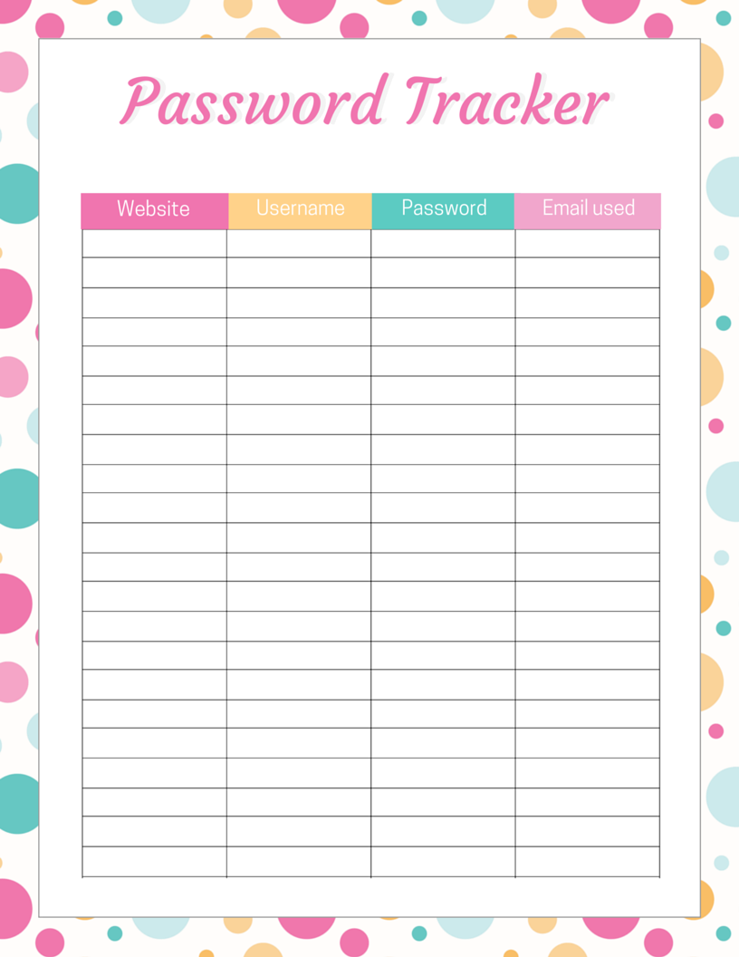 Crush image throughout free password printable
