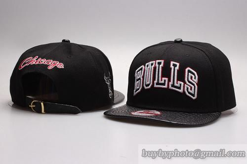 fa72a4f8364 ... official store chicago bulls strapback hats black white leather  brimonly us6.00 follow me to